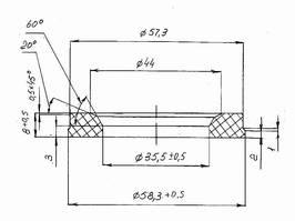 Уплотнитель тарелки клапана - чертеж