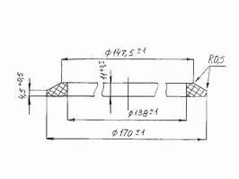 Кольцо резиновое уплотнительное - чертеж