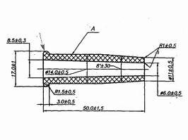 Изолятор соединения кабелей электропроводки - чертёж