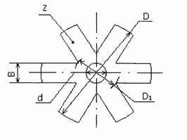 Звездочка резиновая - чертеж